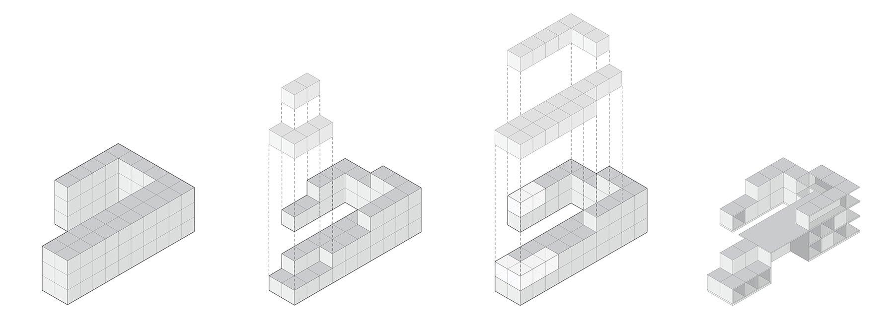 """Estructura del edificio Startup Hub """"Cloudworks Pujades"""" en el distrito 22@ de Barcelona."""